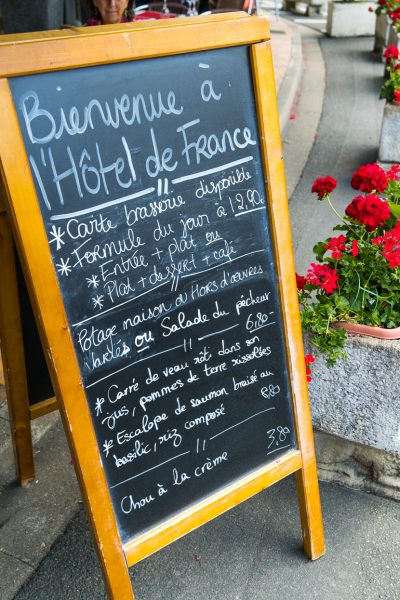 Hotel de France brasserie menu dietary requirements