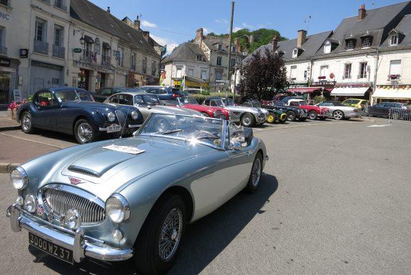 Classic Aston Martin Hotel de France, near Le Mans