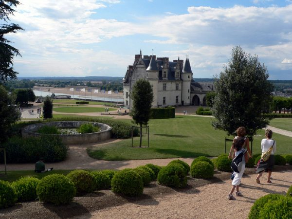 Chateau Amboise and boxwood garden near Hotel de France