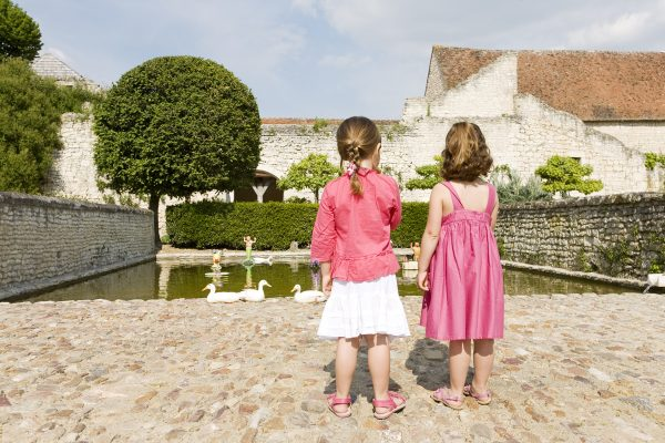 Children in Fairytale Garden at Rivau Loire Valley near Hotel de France